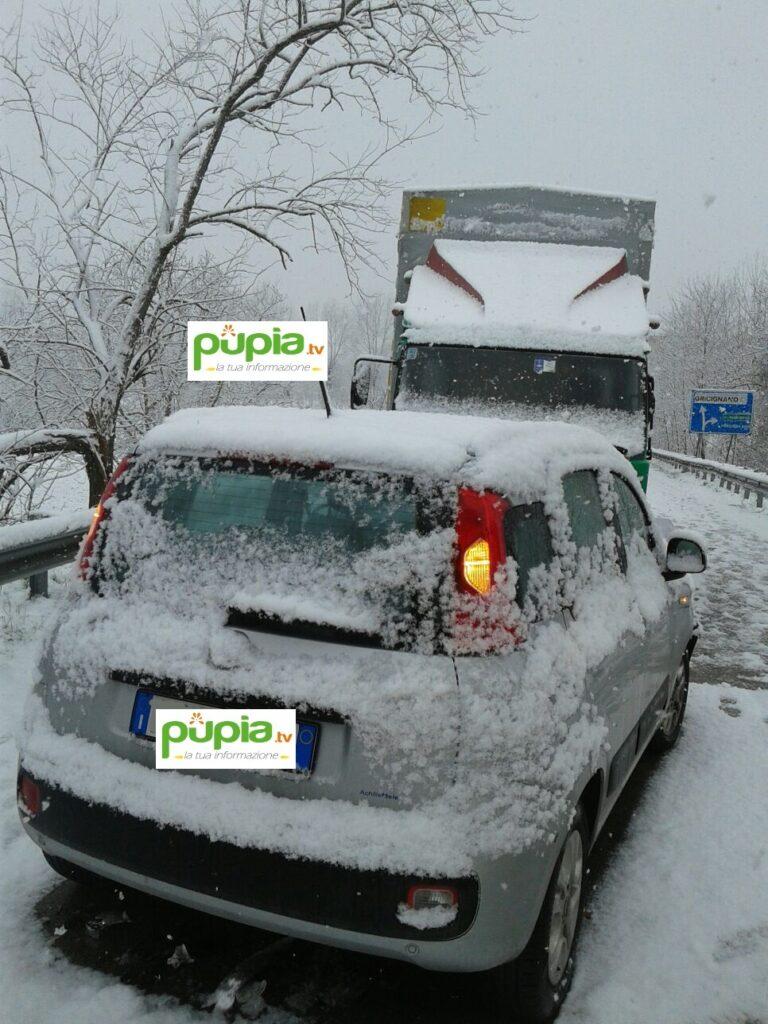 gricignano incidente neve (3)