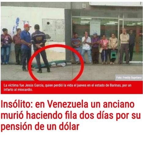 venezuela morto banca