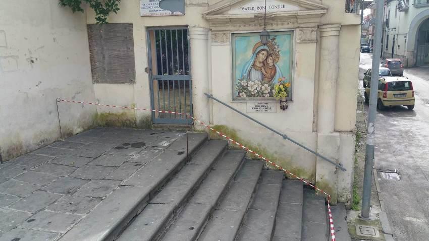 gricignano chiesa voragine (1)