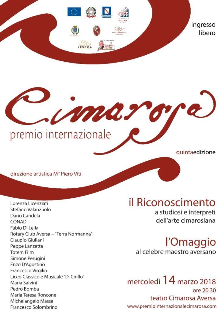 manifesto premio CIMAROSA