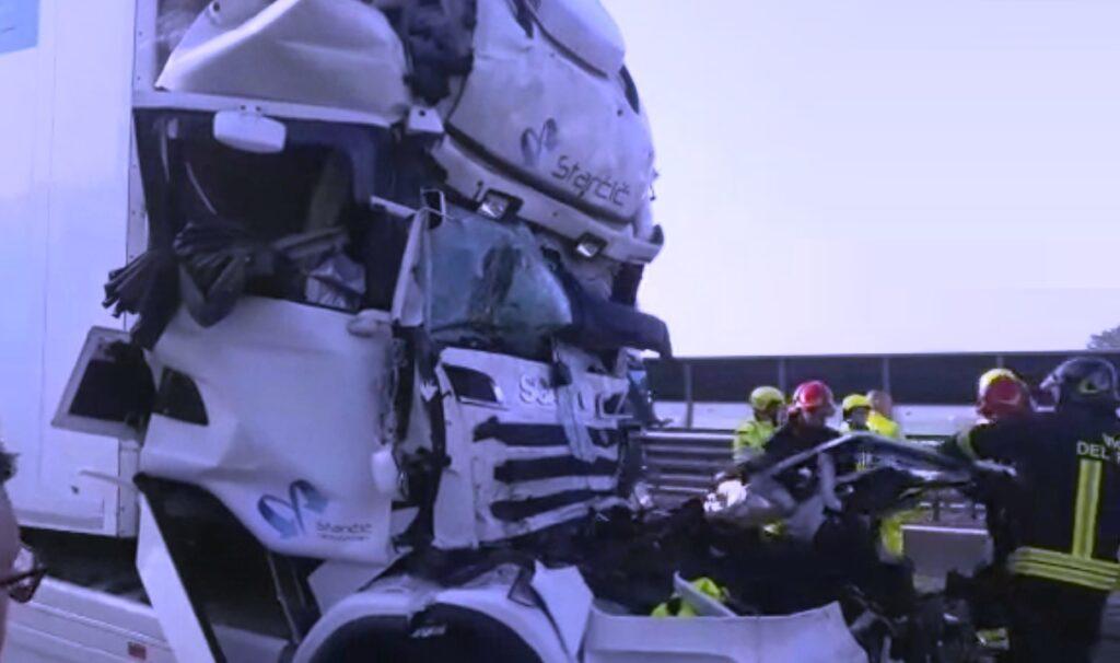 incidente tir camion