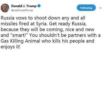 trump tweet siria
