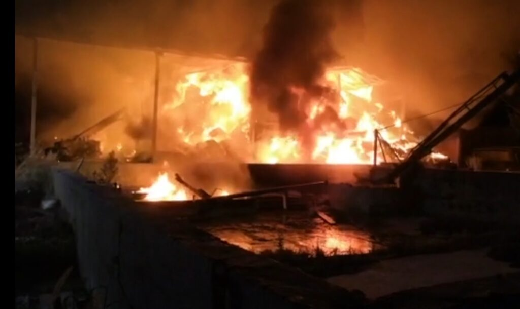 incendio capannone