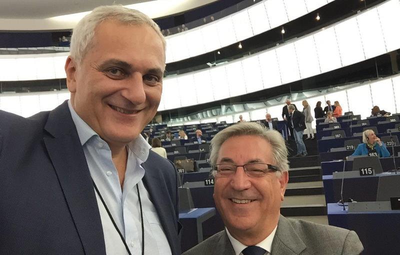 Nicola Caputo con il commissario Karmenu Vella