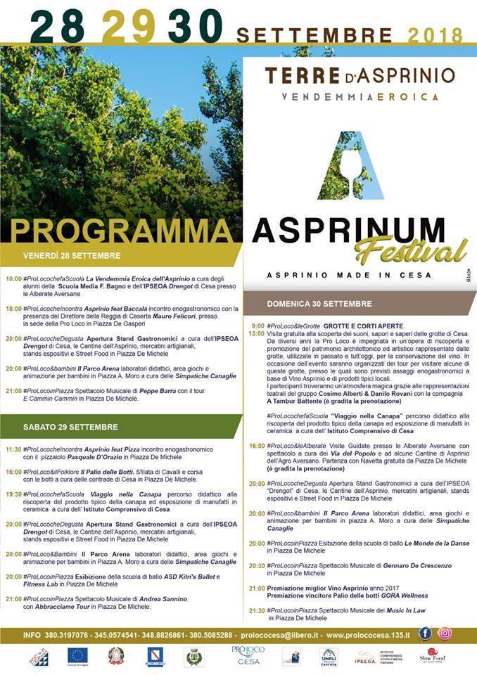 Programma Asprinum Festival