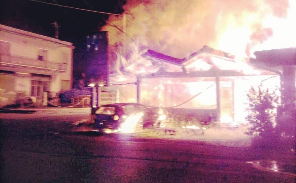 sonnino ristorante incendio