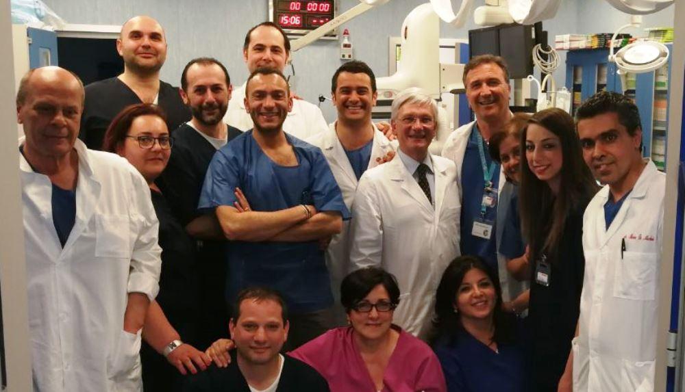 Equipe Emodinamica ospedale di Aversa