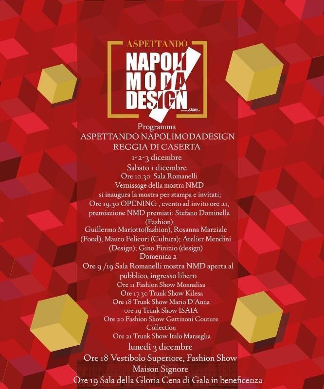 Programma- Napoli Moda Design – locandina
