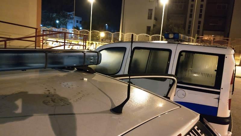 auto vigili aversa danneggiata (3)