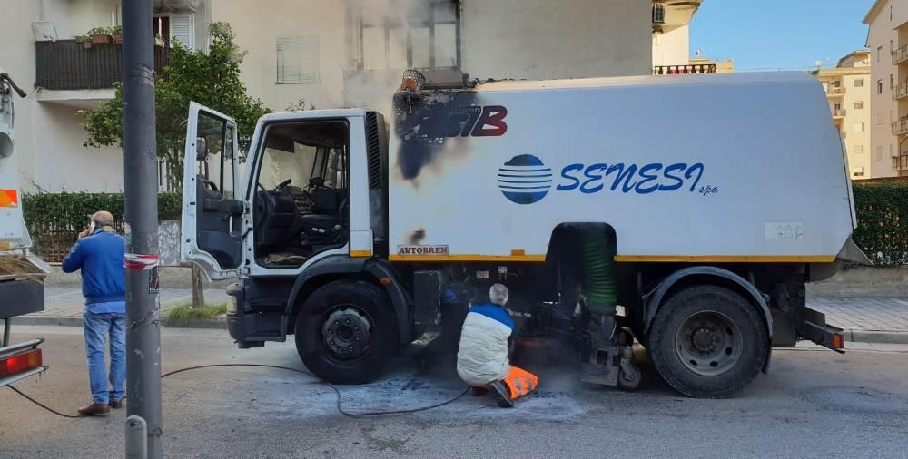 senesi camion incendio