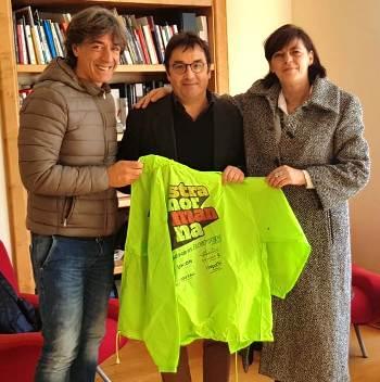 Peppe Andreozzi con il prof. Maffei e Danila Jacazzi