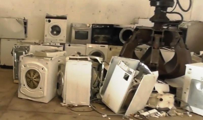 rifiuti stoccaggio lavatrici