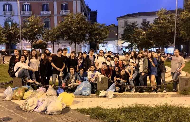 Fridays for future a piazza Vittorio Emanuele