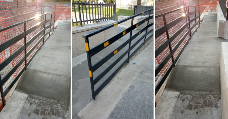 carinaro rampa disabili piazza