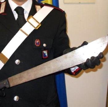 machete carabinieri