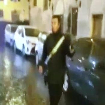 carabiniere minacciato