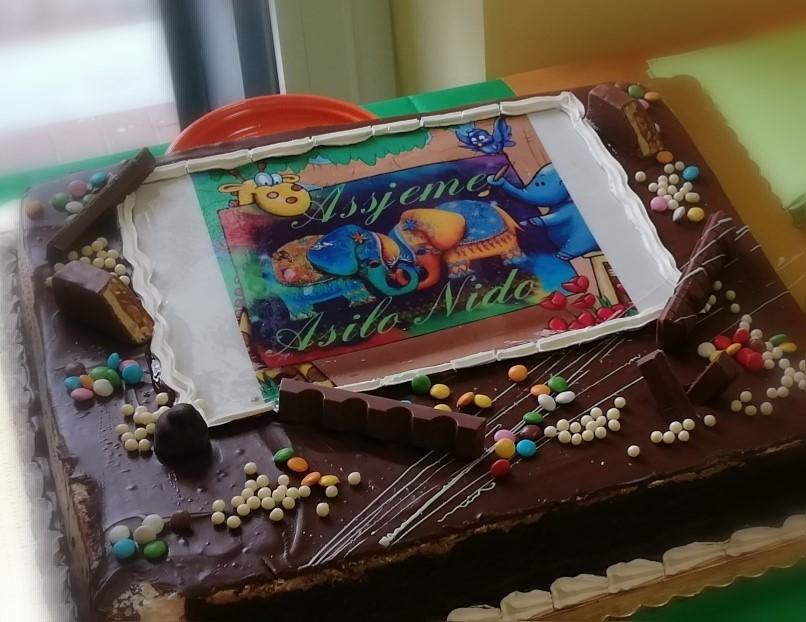 torta inaugurazione asilo Assjeme