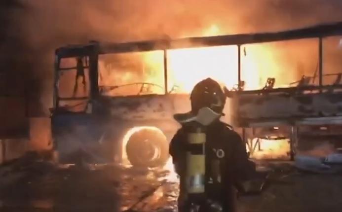 autobus incendio
