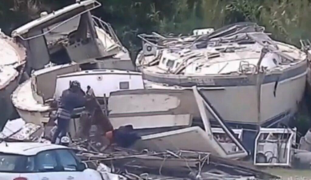 rifiuti yacht