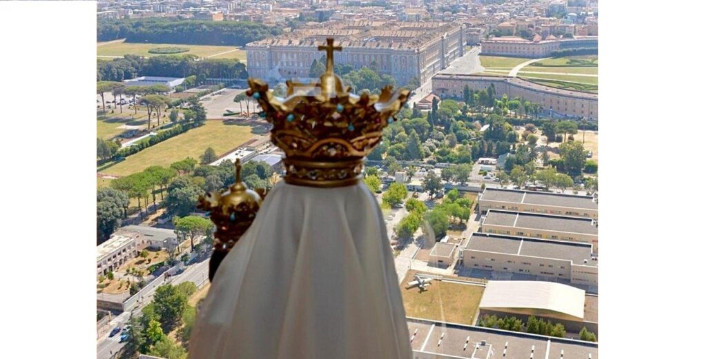 Il sorvolo della Sacra Effige della Madonna di Loreto sulla città di Caserta