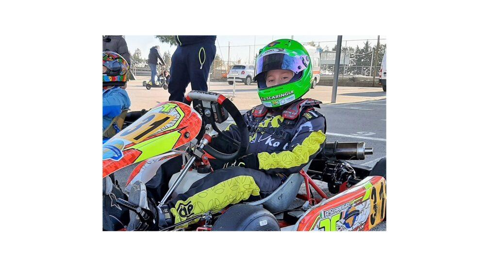 In foto Alessandro Scaringia durante una sessione di test