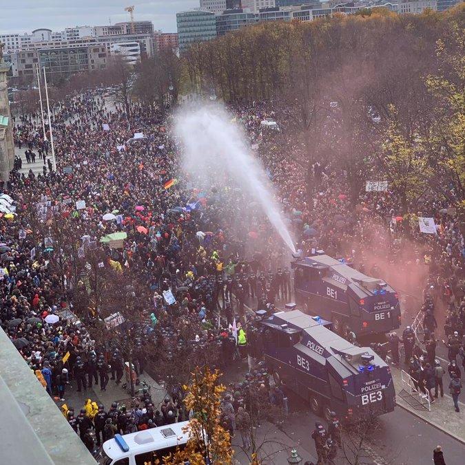 berlino protesta covid