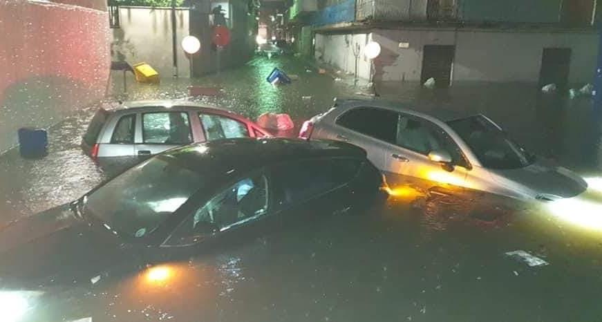 casal di principe allagamento alluvione maltempo