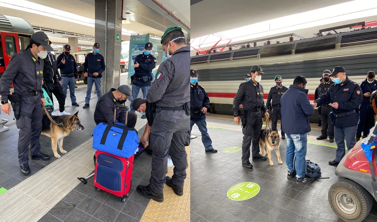 controlli stazione treno