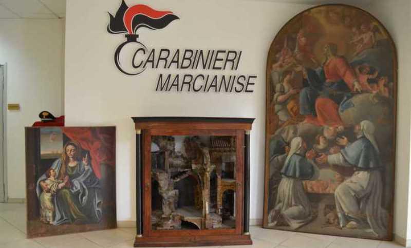 dipinti rubati marcianise