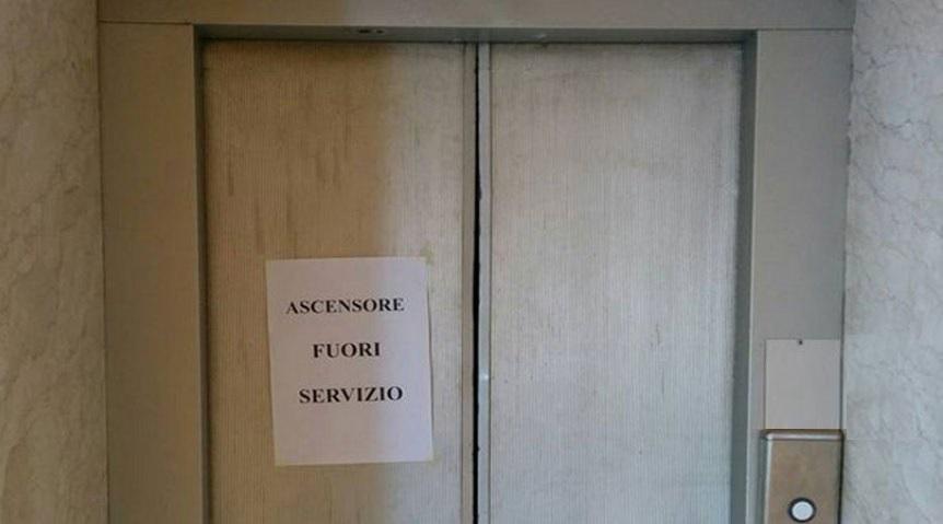 ascensore guasto