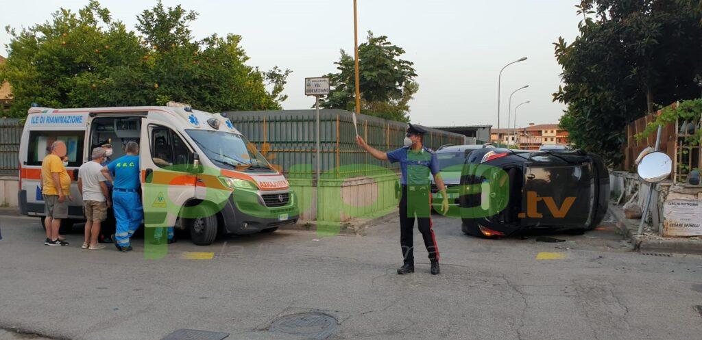 gricignano incidente via diocleziano 25giu21 (2)