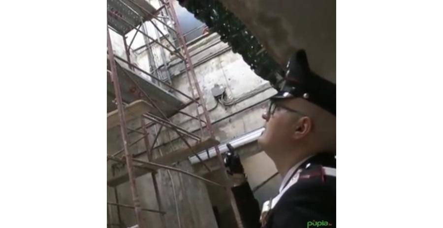 carabinieri operaio impalcatura morti bianche