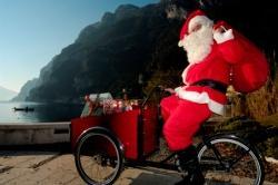 Babbo Natale Bici