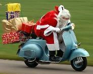 Babbo Natale Vespa