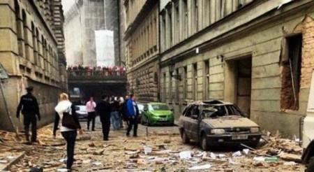 Esplosione Praga 29 Aprile 2013