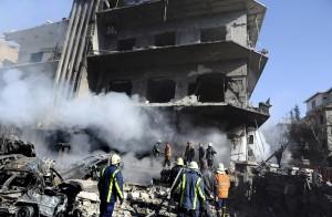 Damasco Attentato Sede Ministero Interno Apriel 2013