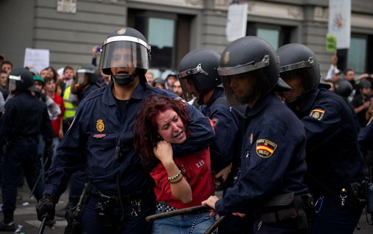 Scontri Madrid Indignados