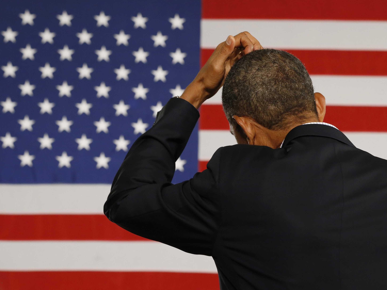 Obama Di Spalle