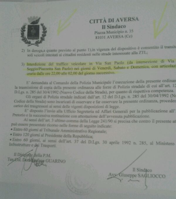 Ordinanza Guarino