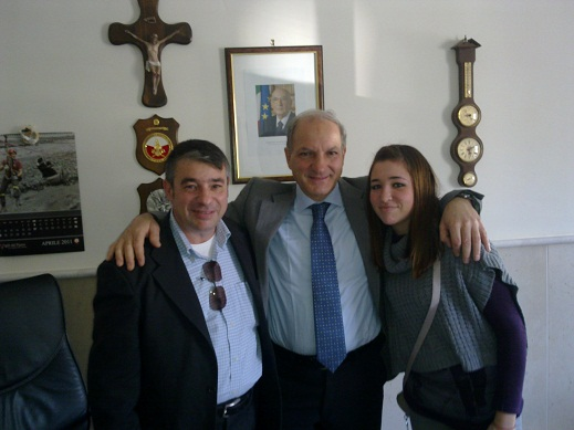 Comandante Ing Falbo Con Donato E Valentina Liotto