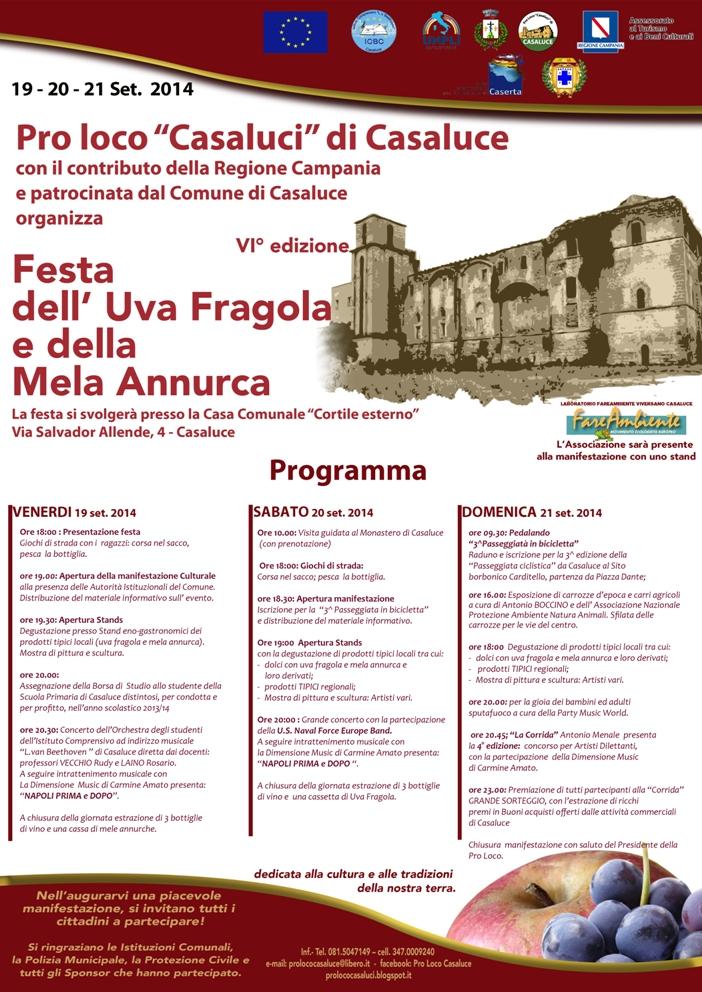 Festa Uva2014  Programma