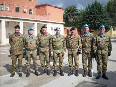 Generale Iannuccelli Con I Suoi Colonnelli Che Partono Per Il Libano