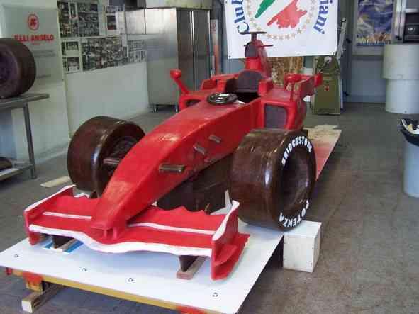 Ferrari Di Cioccolato In Costruzione