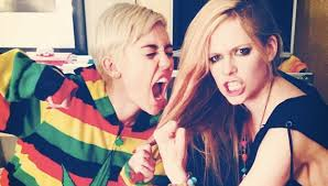 Miley Cyrus e Avril Lavigne