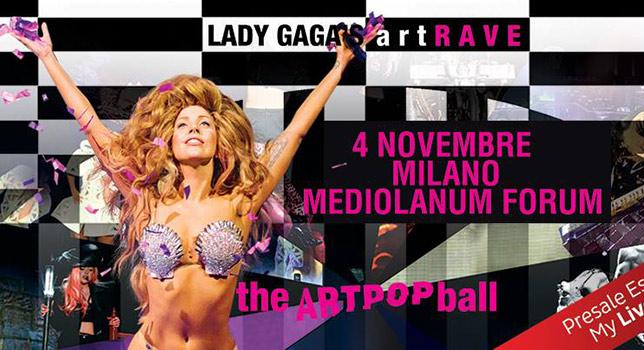 Lady Gaga Milano 2014