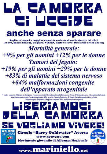 Manifesto Azionegiovani Monnezza