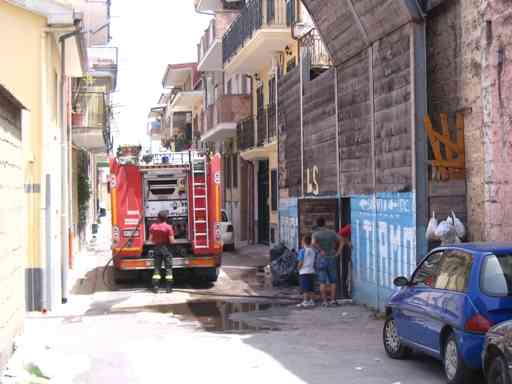 Via Grecini Incendio1